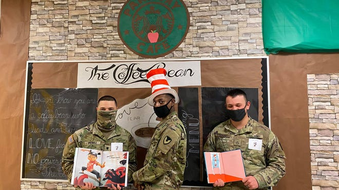 Soldiers from Fort Polk  read to students at Parkway Elementary School as a part of National Read Across America Day.
