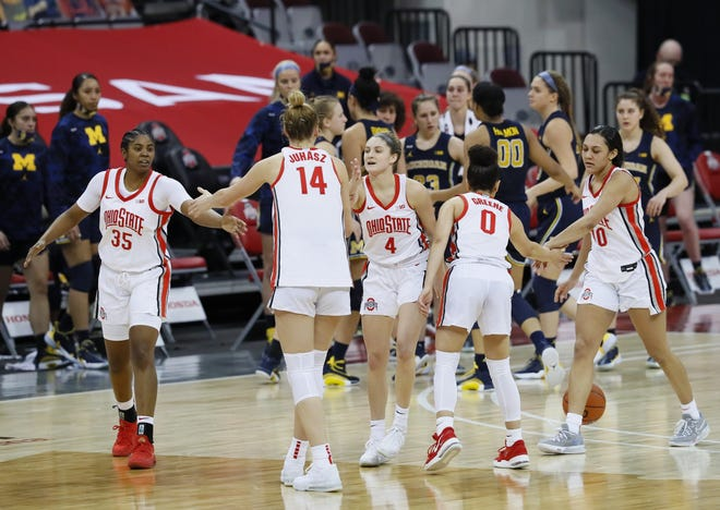 The Ohio State women's basketball team had plenty of reasons to celebrate this season, especially a three-game stretch in January in which the Buckeyes defeated three consecutive ranked teams, including Jan. 21 against Michigan.