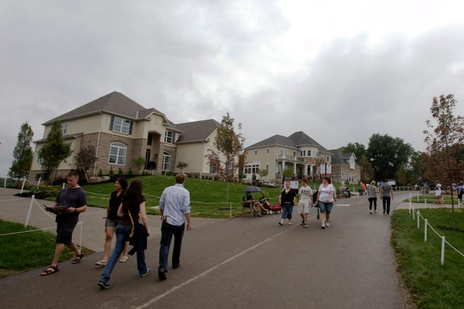 The Parade of Homes will return to central Ohio this year, but in scattered locations instead of the traditional single site, such as this 2014 Parade in Delaware County's Trail's End subdivision.
