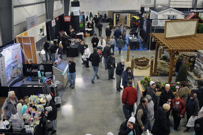 A bird's-eye view of the 2021 Amish Country Spring Home and Garden Show on Thursday at the Mount Hope Event Center. The show runs through Saturday.