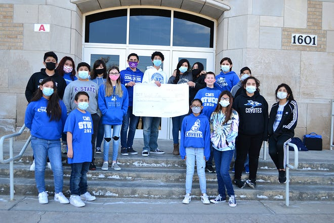 Student council members from Comanche Middle School in Dodge City raised money to go towards Friends of Wright Park Zoo. The organization raised money towards the zoo's expansion project.