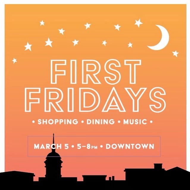 First Fridays returns this weekend to downtown Columbia, with live music, seasonal sales and food trucks from 5-8 p.m.