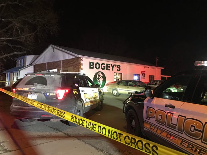Erie police are investigating reports of multiple shooting victims Wednesday night at Bogey's tavern at 2105 Buffalo Road. Police reported four men suffered gunshot wounds.