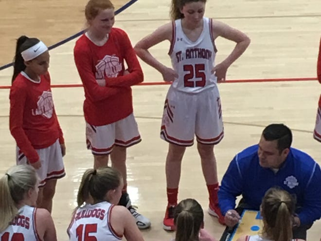 Aaron Rios, a 1997 graduate of Burlington High School, is coaching the St. Anthony girls basketball team in Effingham, Illinois.