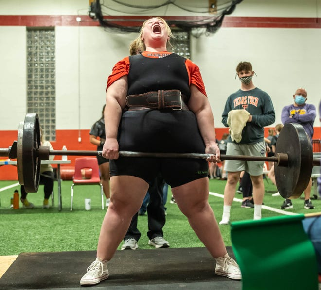 Glen Rose's Mallory Alexander (259-plus) is ranked third in the weight class in the region.