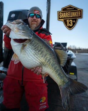 Just days after sub-zero cold and more than 10-inches of snowfall blanketed the region, O.H. Ivie Lake near San Angelo started a big bass blitz for the ages with eight Legacy Class ShareLunkers being landed in just more than a week! The biggest of those bass was this 16.40-pound largemouth landed on Friday, Feb. 19, 2021 by Iowa angler Joe McKay.