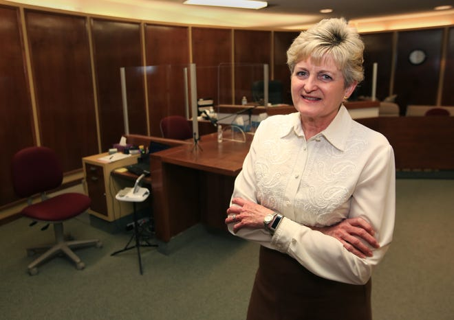 After 41 years as a court reporter at the Reno County courthouse, Susan Carden Gonzales is retiring on Friday, March 5, 2021. A come and go reception will be held for her Friday from 3-5 p.m. on the third floor of the courthouse.
