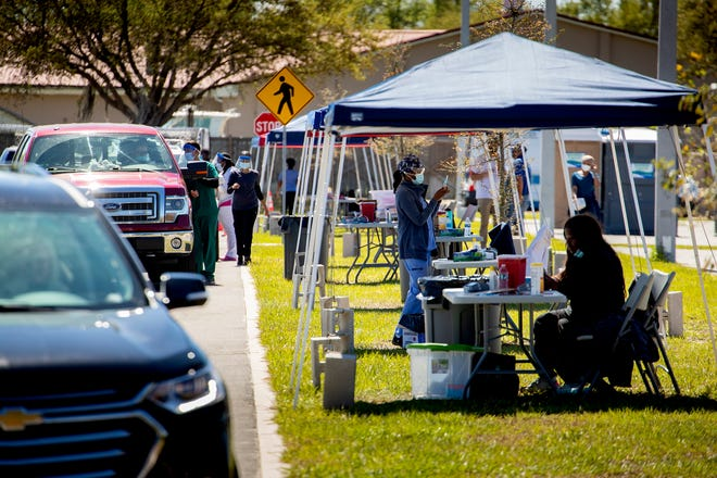 FEMA opened a drive-up COVID-19 vaccination site on Wednesday at Lake Maude Recreation Park in Winter Haven. The site will be open, no appointment necessary, on a first-come, first-served basis, 9 a.m. to 5 p.m. through March 10.