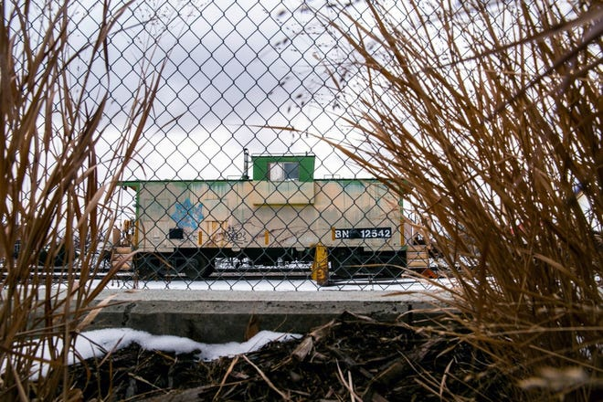 Disused equipment sits at the BNSF depot just off Main Street in Longmont, on Wednesday, Feb. 17, 2021.