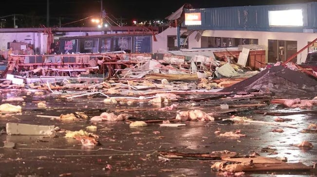 King's Plaza in Osage Beach following the microburst storm in 2020.