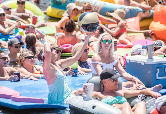 Aquapalooza attendees enjoy their time on the water during the 2019 event.