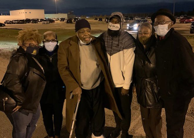 Robert Smith, a torture victim at the hands of the Chicago Police Department, is pictured here on the night he was released from prison on Oct. 23, 2020. Smith, who was imprisoned for 33 years, filed a civil lawsuit this week against the city and former CPD officers for more than $66 million in damages.