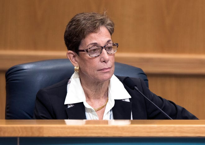 Palm Beach Beach County Commissioner Maria Marino at a commission meeting in January.