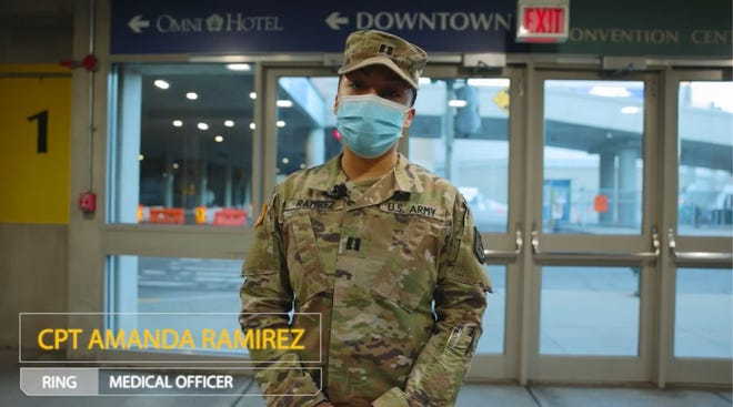 Capt. Amanda Ramirez of the Rhode Island National Guard walks viewers through getting a COVID-19 vaccination at state-run sites in Providence and Cranston.