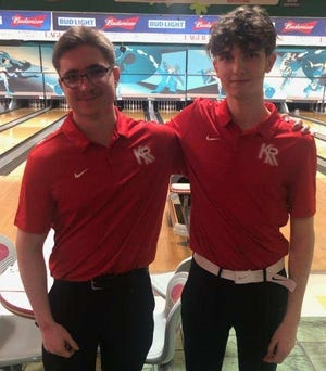 Kent Roosevelt bowlers Chris LeSueur and Matt Richards both qualified for the OHSAA Division I state tournament in Columbus on Saturday.