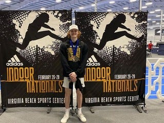 Green's Conner McClure had a winning vault of 16 feet, 10.75 inches at the Adidas National Indoor Track and Field Championships.