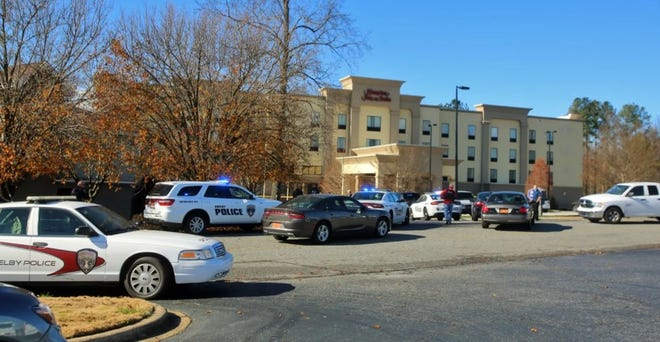 Police respond to a deadly shooting near the Cleveland Mall in December 2020.