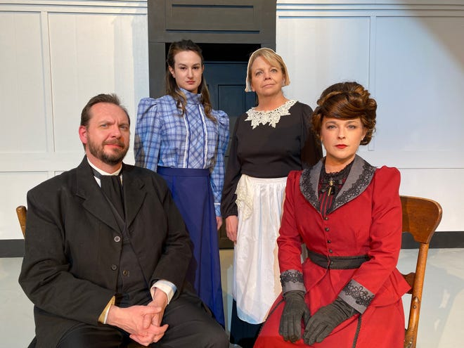 """Scott Bartley, Jill Fry, Karla Kelly and Nicki Sherman are featured in Shawnee Little Theatre's reopeningshow """"A Doll's House, Part 2"""" performing March 11, 12, 13 and 14 onstage at SLT. A recorded performance will also be streamed for the first time in SLT history. Tickets are available at shawneelittletheatre.com, 405-275-2805 or at the theater box office."""