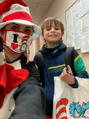 Many Shawnee elementary schools celebrated Read Across America Week by dressing up as The Cat in the Hat and Thing 1 and Thing 2.