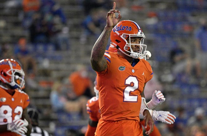Florida quarterback Anthony Richardson is working on becoming a more accurate thrower.
