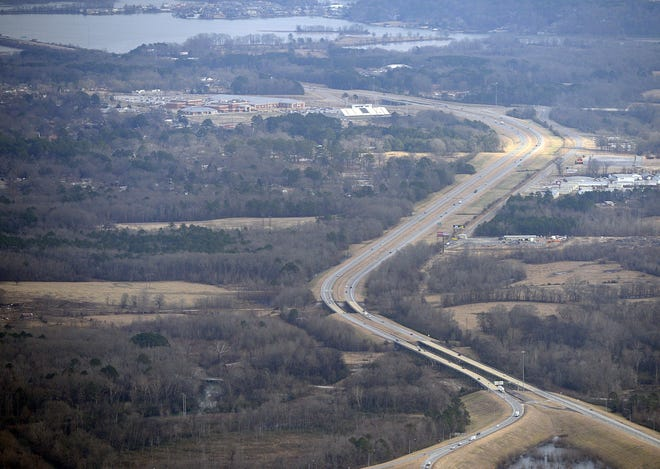 Interstate 759 is shown in a 2014 aerial photo.