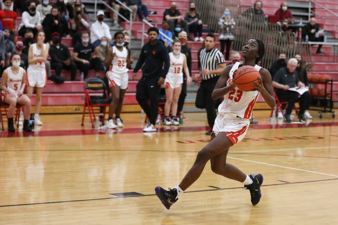 Blessing King had 19 points and 10 reboundsto help Worthington Christian defeat Waynesville 52-40 in a Division III regional semifinal March 3 at Springfield.