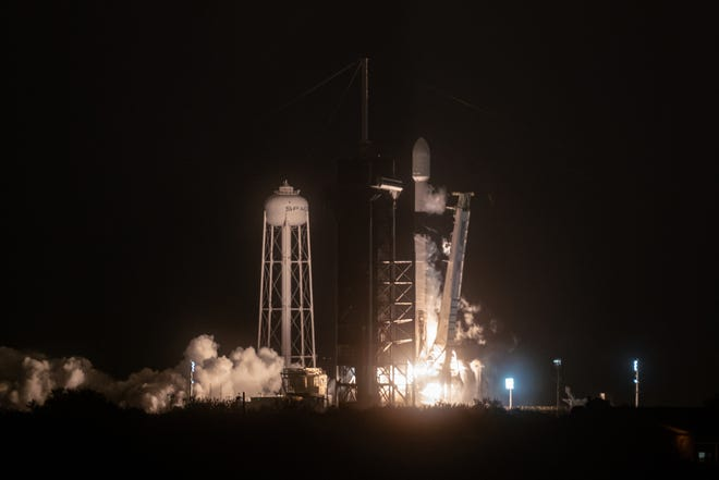 A SpaceX Falcon 9 rocket launched from Kennedy Space Center's pad 39A at 3:24 a.m. on Thursday, March 4, 2021. It marked the 20th flight for the Starlink constellation.