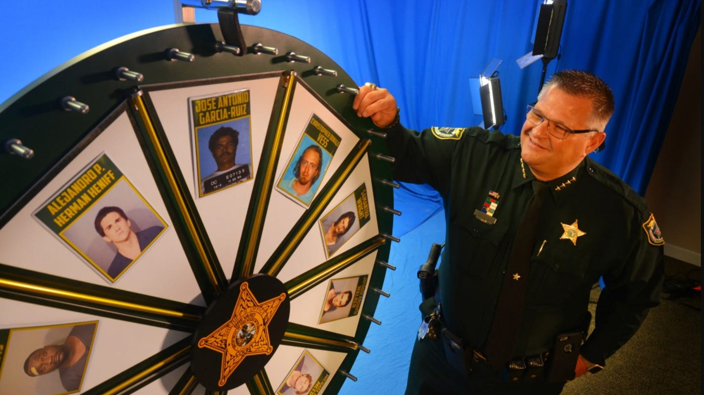 Florida sheriff who hosts 'Wheel of Fugitive' show features people who are not fugitives