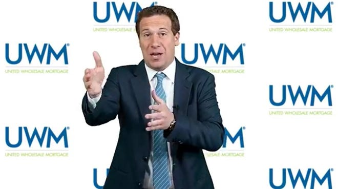 Mat Ishbia, CEO of United Wholesale Mortgage, gave an ultimatum to mortgage brokers on Facebook Live , saying they can either do business with his firm or Detroit-based Rocket Companies, but not both.