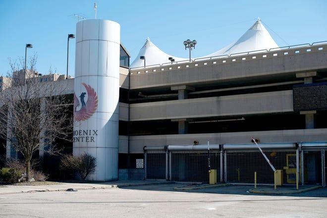 The Phoenix Center parking deck on March 22, 2017, in Pontiac.