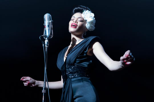 "Andra Day in ""The United States vs Billie Holiday."""
