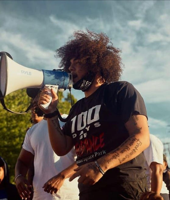 Travis Nagdy, 21, was a youth activist in Louisville, Kentucky. He was shot and killed during an alleged carjacking in November 2020.