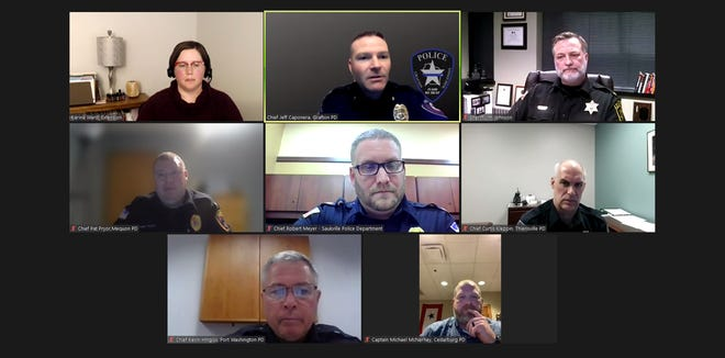 Ozaukee County law enforcement officials discuss topics submitted by citizens during a virtual Q&A event March 3.