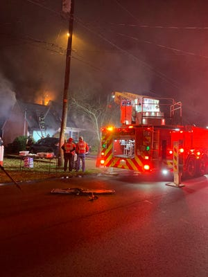 A woman and a dog died in a residential fire in Hermitage on Wednesday night, according to a Nashville Fire Department spokesperson. A man was able to escape.