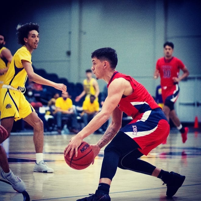 Former Oñate guard Ricky Lujan was named the  Lone Star Conference Freshman of the Year and named to the all-conference first team in his first year at Dallas Baptist.