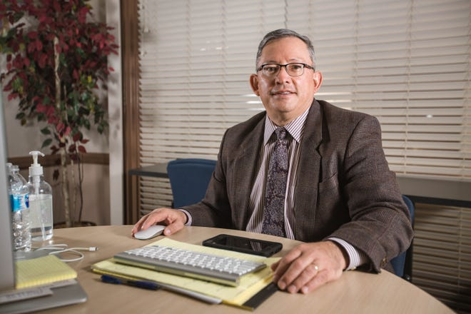 Ralph Ramos, the interim superintendent for Las Cruces Public Schools is pictured at his temporary office in the Las Cruces Public Schools administration building in Las Cruces on Thursday, March 4, 2021.