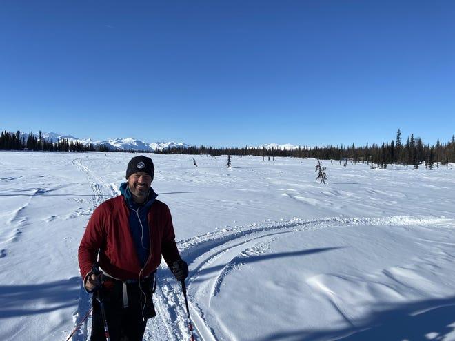 Ryan Wanless is trekking through 350 miles of the Iditarod Trail in Alaska