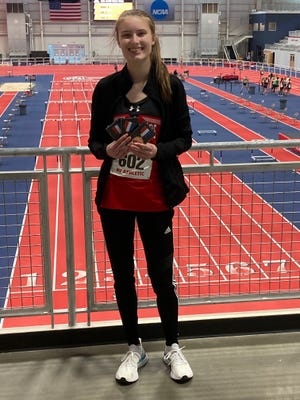 Riverheads sophomore Summer Wallace won a state title  in the 500 meter dash Wednesday at the Class 1/2 indoor track championships.