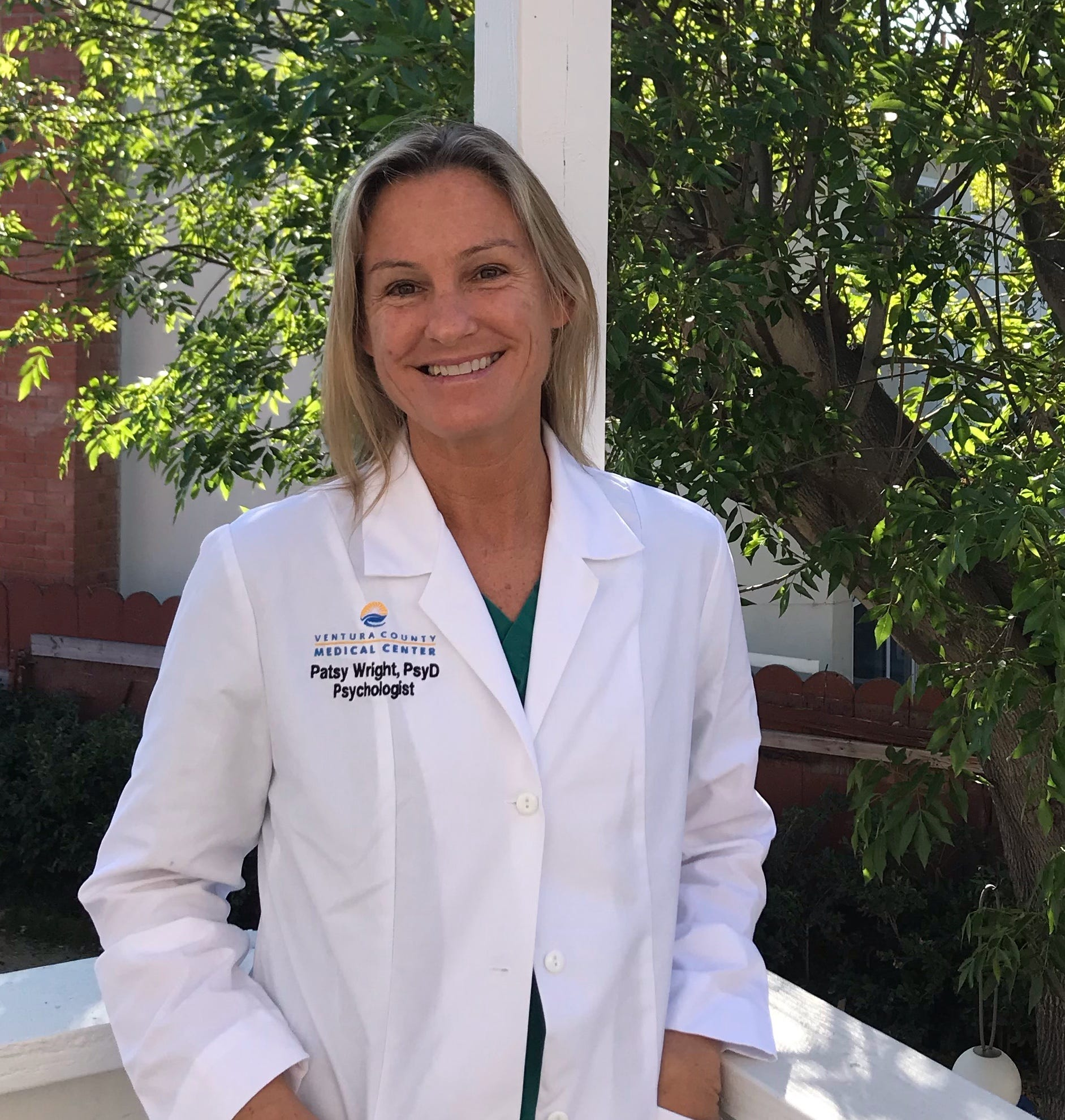 Patsy Wright, a clinical psychologist, started working on the palliative care team at Ventura County Medical Center in April 2020.