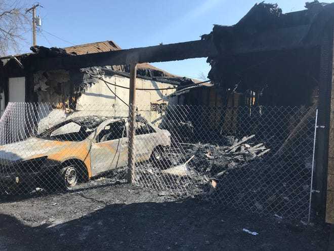 Two Visalia families were displaced Friday morning after a fire burned through two apartment units on the 900 block of North Rinaldi Street. The cause of the blaze is unknown.