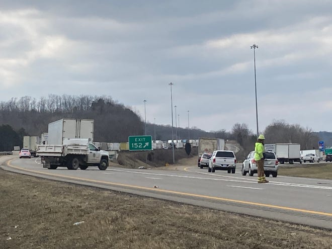 A semi crashed around 1:30 p.m. Thursday and spilled fuel onto Interstate 70 westbound lanes. Traffic is being diverted onto the National Road exit.