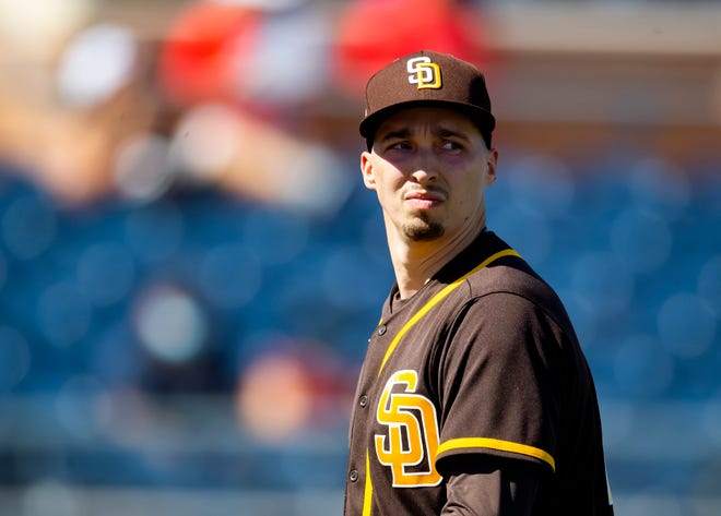 Blake Snell pitched one inning in his spring training debut with the Padres.