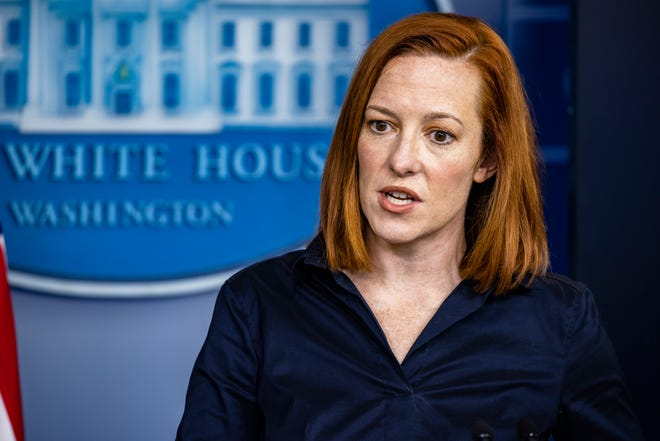White House Press Secretary Jen Psaki speaks during the daily press briefing in the Brady Press Briefing Room at the White House on March 4, 2021 in Washington, DC.