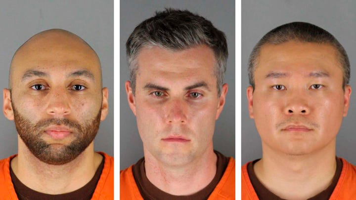 This combination of photos provided by the Hennepin County Sheriff's Office in Minnesota on June 3, 2020, shows Derek Chauvin, from left, J. Alexander Kueng, Thomas Lane and Tou Thao. Prosecutors in the case against the four Minneapolis police officers charged in the death of George Floyd requested that the trial delayed by three months. Prosecutors cited the COVID-19 pandemic and the amount of time needed before enough people are vaccinated and health risks are sufficiently diminished.