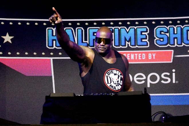 Shaquille O'Neal performs as DJ Diesel on Feb. 7.
