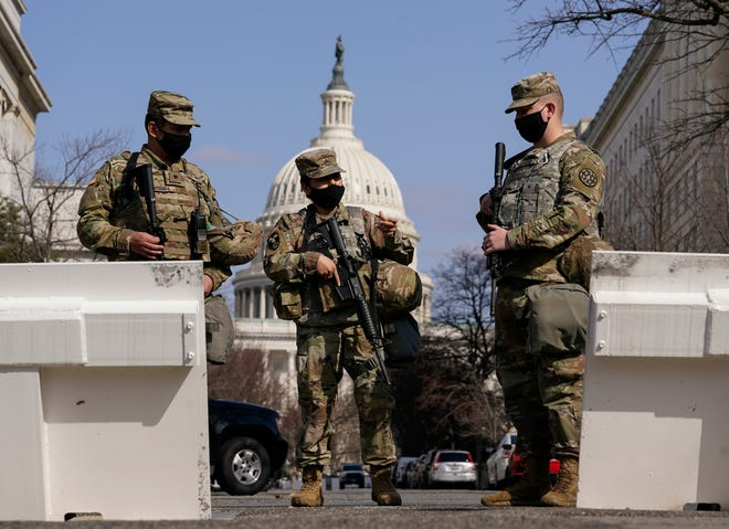 National Guard troops at the U.S. Capitol on March 4, 2021.