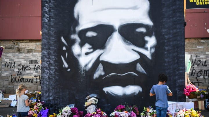 The memorial site where George Floyd died in Minneapolis police custody on May 25, 2020 at 38th Street and Chicago Avenue is seen on Wednesday, June 3, 2020.