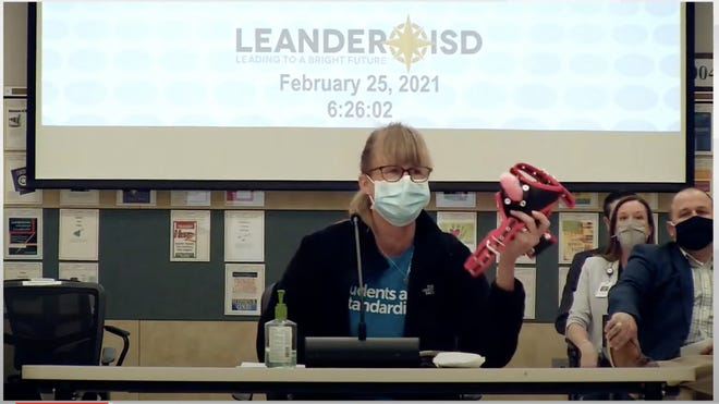 Lori Hines brought a sex toy to the Leander school board meeting last week to argue that there are some books on the high school book club list that she feels are inappropriate for students to read in school.