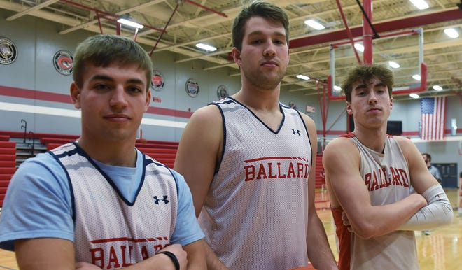 Ballard's 'Run AMC' trio of Mason Murphy, Connor Drew, and Ashton Hermann are ready to lead No. 1 Ballard into the boys' state basketball tournament next week. The Bombers are the top seed in Class 3A and face Clear Lake on Tuesday in what they hope is the first step toward a state championship at Wells Fargo Arena in Des Moines.