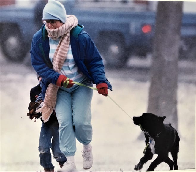 Augusta was blasted by a late-winter storm of snow, ice and howling winds in March 1993.